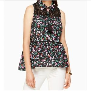 Kate Spade Greenhouse Lace Yoke Top